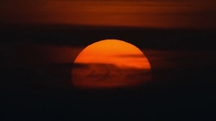 Colorful sunset closeup time lapse Stock Footage