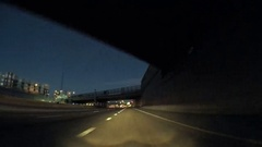 POV point of view - Driving on I25 highway at night. Stock Footage
