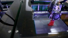 Medical 3d printer printing out human joint part transplant Stock Footage