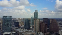 Downtown Austin Texas on a cloudy day Stock Footage