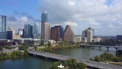Cloudy Day Downtown Austin, Texas Stock Footage
