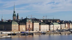 Stockholm city Stock Footage