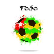 Flag of Togo as an abstract soccer ball Stock Illustration