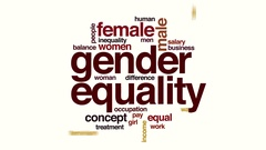 Gender equality animated word cloud. Stock Footage