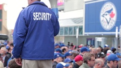 Toronto blue jays rogers centre packed crowd security Stock Footage