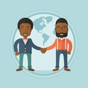 Business partners shaking hands Stock Illustration