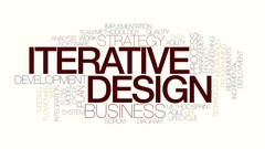 Iterative design animated word cloud. Kinetic typography. Stock Footage