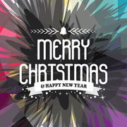 Wish you merry christmas colorful Stock Illustration