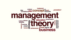 Management theory animated word cloud Stock Footage