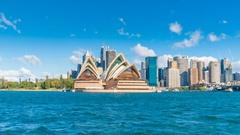 Hyperlapse video of Sydney CBD in daytime Stock Footage
