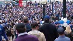 Toronto blue jays rogers centre packed crowd Stock Footage