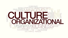 Organizational culture animated word cloud. Kinetic typography. Stock Footage