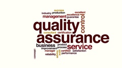 Quality assurance animated word cloud. Stock Footage