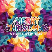 Merry Christmas and Happy New Year card background festive Stock Illustration