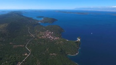 Aerial - Panoramic view of Dugi otok toward northern part of the island Stock Footage