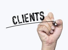 Clients written by hand Stock Photos