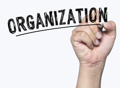 Organization written by hand Stock Photos
