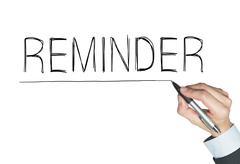 Reminder written by hand Stock Photos
