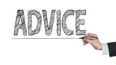Advice written by hand Stock Photos