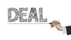 Deal written by hand Stock Photos