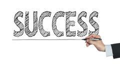 Success written by hand Stock Photos