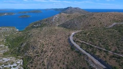 Aerial - Flying above the middle part of Dugi otok Stock Footage