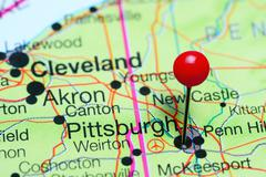 Pittsburgh pinned on a map of Pennsylvania, USA Kuvituskuvat