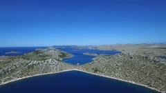 Aerial - Flying high above beautiful Kornati Islands Stock Footage