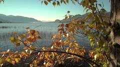 Osoyoos Lake, Autumn Colors 4K UHD Stock Footage