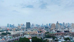 View of Business Building Bangkok city Asia Thailand Stock Footage