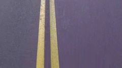 Double yellow lines Stock Footage