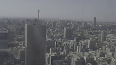 Johannesburg City Skyline Stock Footage