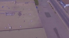 Sky View of wear houses  Stock Footage