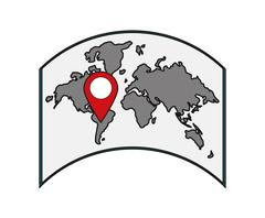 Isolated map and cartography design Stock Illustration