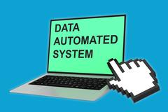 Data Automated System concept Stock Illustration