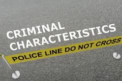 Criminal Characteristics concept Stock Illustration