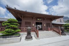 Chi lin Nunnery, Tang dynasty style temple, Hong Kong Stock Photos