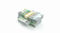 Polish money Stock Footage