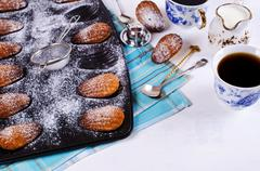Homemade biscuits madeleines Stock Photos