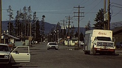 USA 1977: traffic in a small town Stock Footage