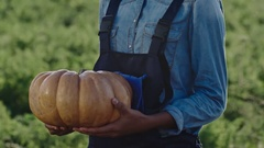 African Young Farmer with Pumpkin Stock Footage