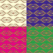 Set of seamless pattern Stock Illustration