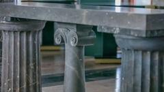 Big and small stone pillars Stock Footage