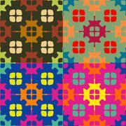 Set of seamless symmetric patterns Stock Illustration