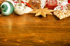 Christmas decoration and copyspace available Stock Photos