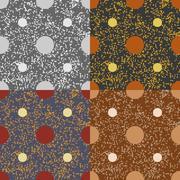 Set of seamless vector patterns Stock Illustration