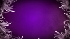 White frost circle on dark violet background seamless loop Stock Footage