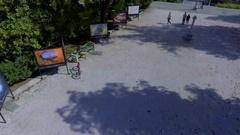 Beautiful summer day in the Tivoli Park Stock Footage