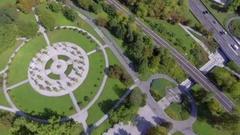 Tivoli Park in Ljubljana Stock Footage