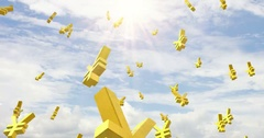 Yen rise sky Stock Footage